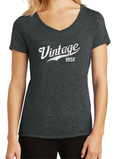 60th Birthday Gift WOMEN'S VINTAGE 1957 TEE 50th by BluYeti