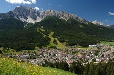 San Candido, Italy.  On the Austrian border in the foothills of the Dolomite Mountains.