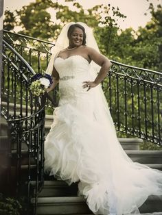 This plus size fit-and-flare wedding gown with strapless neckline can be customized in any way you need.  We make custom #weddingdresses for all sizes.  Brides can also make a request for us to make a #replica of any couture design dress if what they want is out of their price range. Get info on our process and pricing on any dress when you contact us directly from our official website.