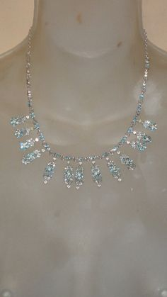 Vintage Baby Blue rhinestone necklace by PatsapearlsBoutique, $19.99