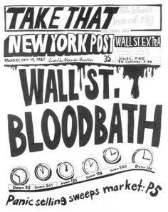 Stock Market: '87 Crash Wall St. Bloodbath  (19th October 1987) alexsandra Mir