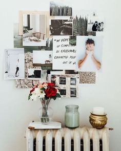 Decorating at Its Best: DIY Photo Collage Ideas & Layouts Photo Collage Ideas and Layouts For Budget Wall Decor Bedroom Decor, Wall Decor, Bedroom Ideas, Bedroom Wall, Home And Deco, My New Room, Dorm Decorations, Photo Decorations, Dorm Room