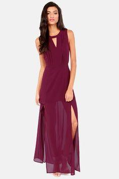 Fancy - Classy-fied Information Burgundy Maxi Dress