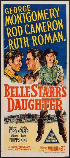 "Belle Starr's Daughter (20th Century Fox, 1948). Australian Daybill (13"" X 30""). Western."