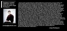 """LEIA MEUS LIVROS no Scribd também. COMPRE NO CLUBE DE AUTORES e BUBOK.PT. Ajude a divulgar o autor se você gostar. https://pt.scribd.com/jorge0rodrigues-2 Meus videos você encontra no Vimeo. https://vimeo.com/home/myvideos/ Esse é o meu novo canal do """"Projeto SIMFUJE: A arte marcial livre"""" no Youtube, ainda editando. SEJA PATROCINADOR, PORQUE CONSTRUIU TUDO SOZINHO E ENFRENTA MUITA OPOSIÇÃO.  https://www.youtube.com/channel/UCWFXO8Jnr7OWJy5rBBZ0Zww"""