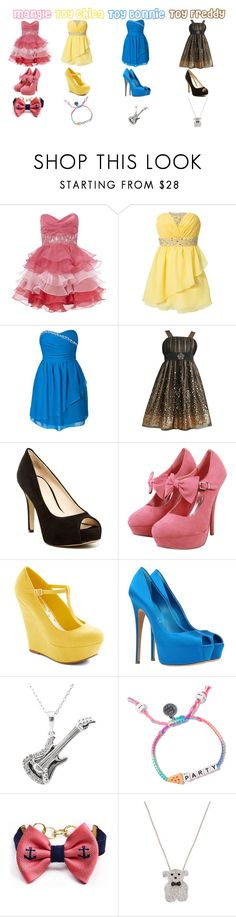 """""""Five Nights At Freddy's Prom 2"""" by theswedishprincess ❤ liked on Polyvore featuring Lipsy, Oneness, Iris & Ivy, Nine West, Casadei and Nephora"""