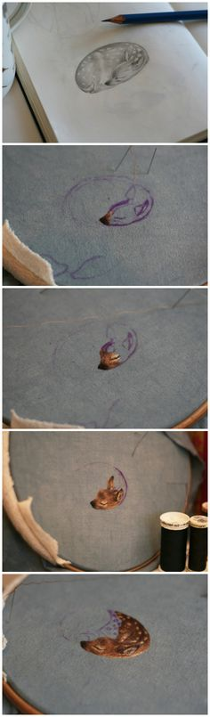 Chloe Giordano embroidery process