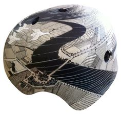Custom Hand-Painted, One-of-a-Kind Bike Helmets by Belle Helmets and Accessories | Hatch.co