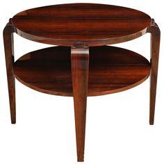 Art Deco Round Side Table | 1stdibs.com