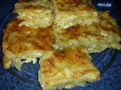1 пакет кори за баница 1 кубче мая (25 гр.) 1 с.л. захар 1 1/2 ч.ч. топла вода 300 гр сирене 5 чйца 1/2 ч.ч. масло Ко...