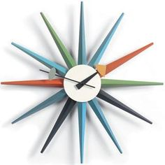 Check Out The Stilnovo G81319 George Nelson Sunburst Clock Priced At  $141.75 At Homeclick.com
