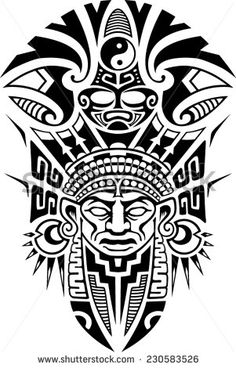 Stock Images similar to ID 24490762 - vector african mask with hand...