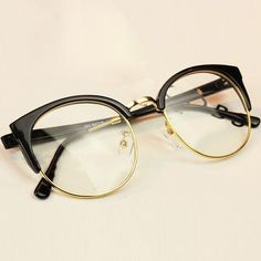 2017 New Fashion Women Glasses Cat Eye Frames Myopia For Men Vintage Women's Big Glasses Oculos Gafas