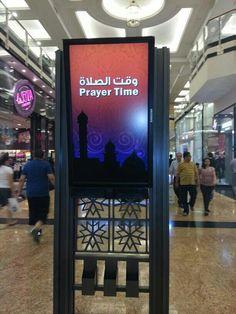 In Dubai it's a Prayer Time