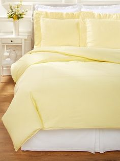 80% OFF 500 Thread Count Percale Duvet Cover Set (Yellow)