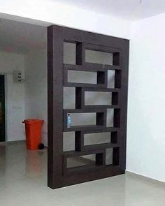 Brilliant Room Dividers Partitions Ideas You Should Try 31 Room Divider Walls, Living Room Divider, Diy Room Divider, Living Room Shelves, Living Room Decor, Room Dividers, Living Room Partition Design, Room Partition Designs, Study Table Designs