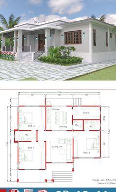 Duplex House Plans, Bungalow House Plans, Cottage House Plans, Modern House Plans, Small House Plans, Bungalow Style House, 3 Storey House Design, Small House Design, Cool House Designs