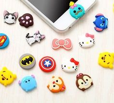 Disney Cartoon Home Button For iPhone 5 5S 6 6S Plus Samsung Note 3 4 5 S5 S6