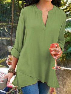 Shirt Women Casual Plain Blouse Knot Front T Iuhan  Womens Short Sleeve Pullover Top