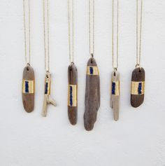 Driftwood + Lapis + Gold @Jana Krinsky I think our fair crafts just got modernized.