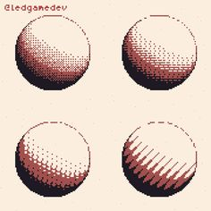 3D spheres dithered realtime as pixelart