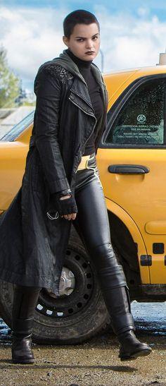 Zazie beetz domino costume deadpool 2 movie costumes props negasonic teenage warhead in deadpool publicscrutiny Images