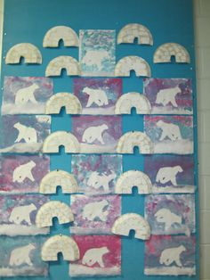 Risultati immagini per bricolage banquise GS Winter Crafts For Kids, Winter Kids, Winter Art, Winter Theme, Art For Kids, Canvas Art Projects, Recycled Art Projects, Artic Animals, Polo Norte