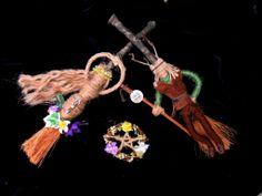 God and Goddess altar besom set. Hadmade by Rowan Duxbury positivelypagan.com