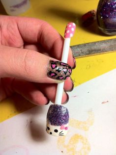 Sorta supposed to be like Hello Kitty, but didn't come out that well! Still cute though!