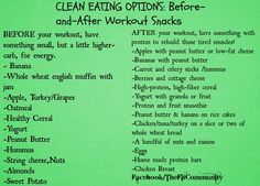 Before & after workout snacks