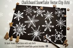 Check out Chalkboard Snowflake Vector Clip Art by JSquarePresents on Creative Market