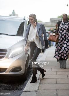 Olivia Palermo outside Emilia Wickstead during London Fashion Week September 2017 on September 18 2017 in London England