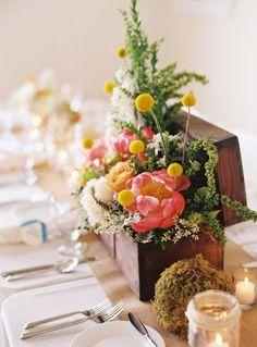 Summer Wedding Centerpiece  ~  we ❤ this! moncheribridals.com
