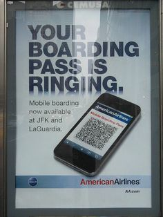 American Airlines is using QR Codes as a boarding pass