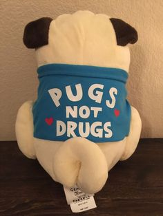 Pugs not Drugs Gemma Cornell Urban Outfitters Pug Plush Stuffed Animal Sold Out | eBay