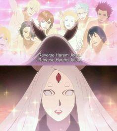 Kaguya's Expression when Naruto used Reverse Harem Jutsu :)))