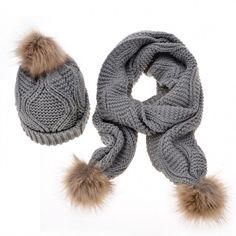 2016 Fashion Women Knitted Hats and Scarf Winter Outdoor Warm Casquette Femme Ful PomPom Hats Casual Cap and Scarf Set Knit Beanie Hat, Scarf Hat, Beanies, Hat And Scarf Sets, Crochet Cap, Pom Pom Hat, Womens Scarves, Hats For Women, Knitted Hats
