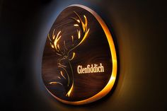 Glenfiddich illuminated sign - NcK