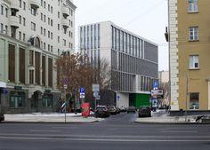 Деловой центр на улице Красина; вид с противоположной стороны Садового кольца. ТПО «Резерв», реализация, 2016. Фотография © Юлия Тарабарина, Архи.ру