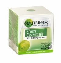 Garnier Soft Essentials Hydrating Day Cream 50ml Normal + Combination Skin The fresh gel-cream formula is ideal as part of a daily care routine for normal and combination skin. The light formula not only hydrates for 24hrs*, it is also enriched with vitamin E, to help protect the skin against external aggressions. Skin's hydration is restored to a more optimal level. The delicately fresh and fruity fragrance offers an immediate sense of wellbeing.