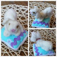 Felted wool spanish water dog - Perro de aguas hecho en lana