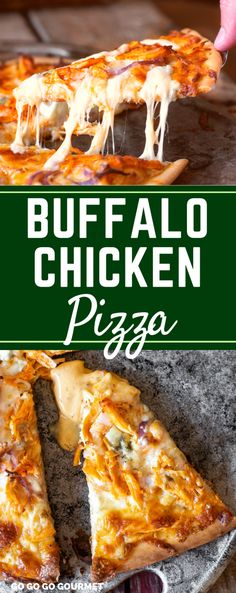 This easy Buffalo Chicken Pizza Recipe is a homemade family favorite! This easy Buffalo Chicken Pizza Recipe is a homemade family favorite! Topped with blue cheese and mozzarella, the spicy buffalo ranch sauce is what MAKES this! Buffalo Chicken Pizza, Pollo Buffalo, Buffalo Chicken Recipes, Buffalo Chicken Flatbread Recipe, Pizza Recipe Pillsbury, Pizza Recipe Easy, Homemade Pizza Recipe, Chicken Pizza Recipes, Easy Meals