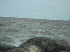 Water splashing from Lake Winnebago Fond du Lac--another storm could be coming...