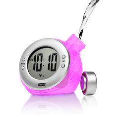 Fab.com | Round Water Alarm Clock Lavender