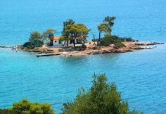 Tiny islet near #Poros island.