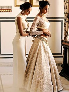 Soma Sengupta Indian Bridal- Cream and Gold! So Classic!