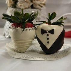 Bride & Groom Chocolate Dipped Strawberries :)