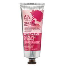 The Body Shop's wild rose hand cream- works wonders!