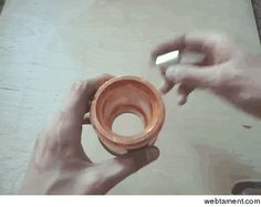 Magnet dropped in copper pipe #trippy #magnet #dropped #copper #pipe #animated #gif #entertainment #interesting