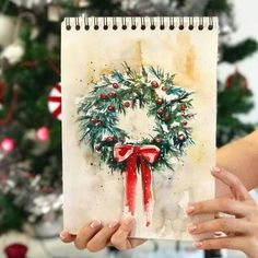 watercolor the art impressions way - snowy winter barn scen Painted Christmas Cards, Christmas Cards 2018, Watercolor Christmas Cards, Christmas Drawing, Christmas Paintings, Watercolor Cards, Xmas Cards, Christmas Art, Watercolor Paintings